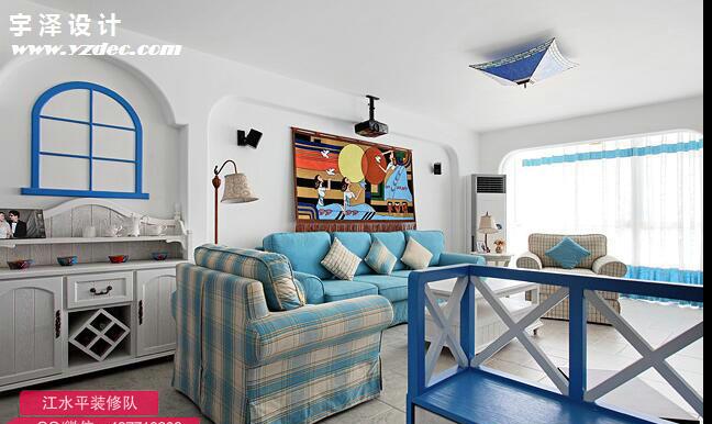 130平米地中海风格装修效果图样板房,南京家装公司江水平装修