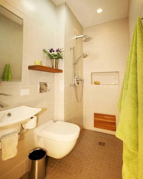 南京二手房装修小户型卫生间装修,小卫生间也能大功能!
