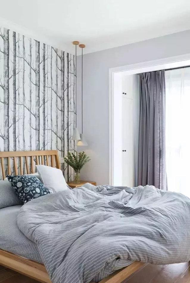 卧室床头墙设计,南京二手房卧室床头墙设计效果!