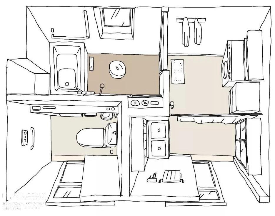南京卫生间装修设计,三室分离怎么做?