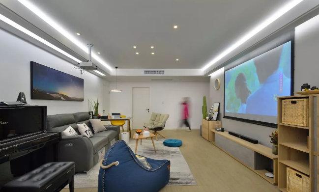 南京客厅装修效果,客厅不一定要有电视