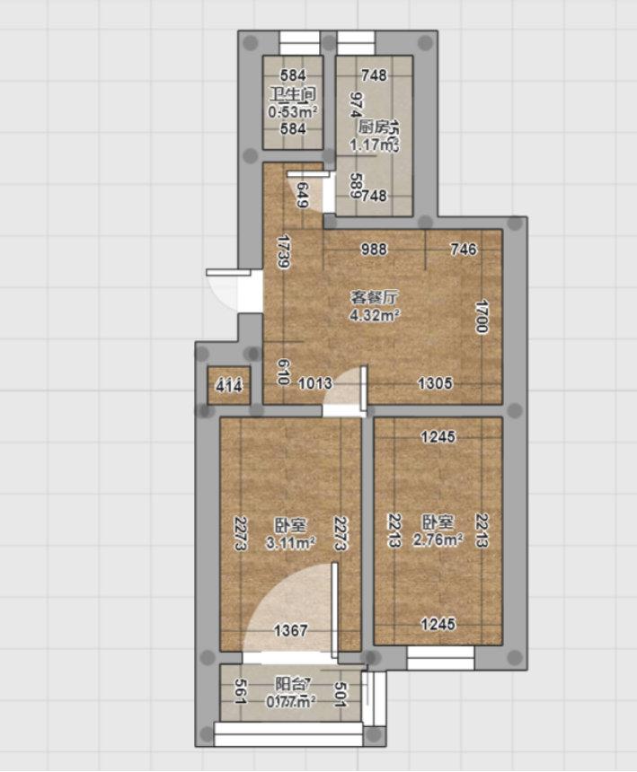 南京百水芊城二手房改造,65平的绝色搭配