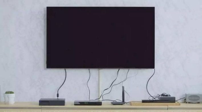 电视背景墙隐藏线路装修,客厅不用在乱糟糟了