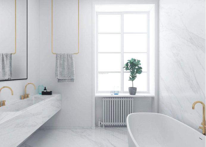 卫生间装修,让卫浴背景墙成为一道靓丽风景