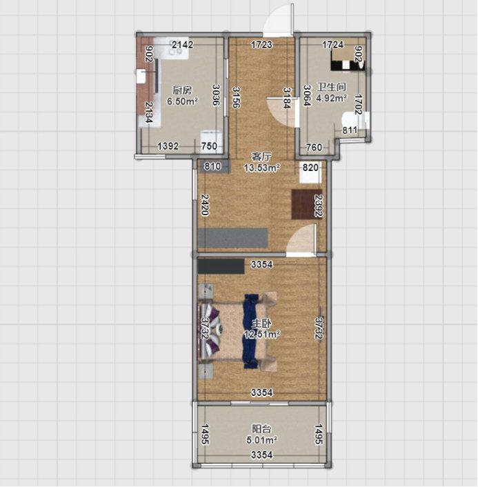 南京燕子矶祥和雅苑,45平的小户型设计案例
