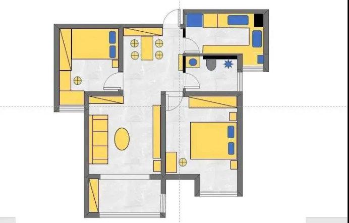 南京冠城大通蓝郡装修案例,82平的两室一厅,30万高了吗