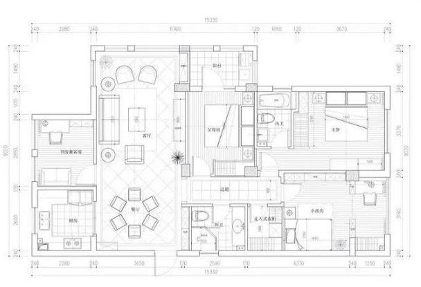 极简美式设计,满屋都是柜子,实用不突兀,尤其是客厅设计