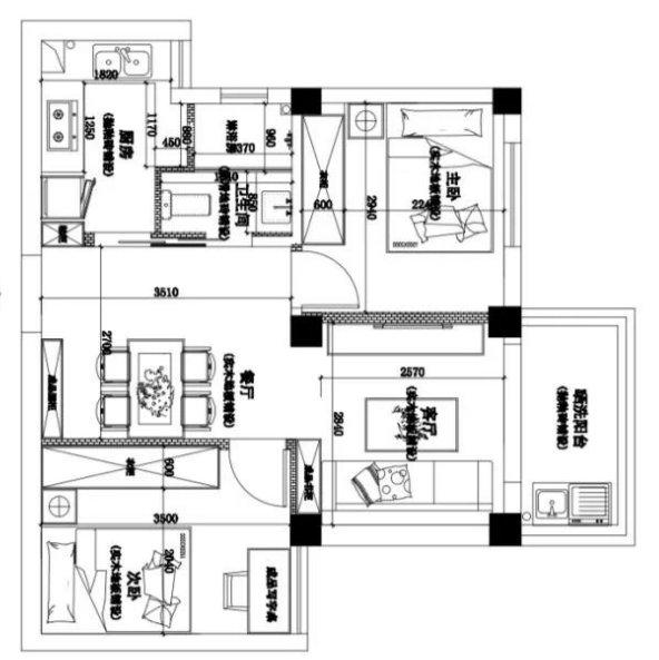 晒晒我家50平的2室2厅,这么温馨的家,怎么可以被面积所限