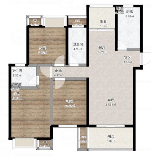 南京莱蒙水榭阳光120平,新中式装修,充满时尚韵味的东方空间
