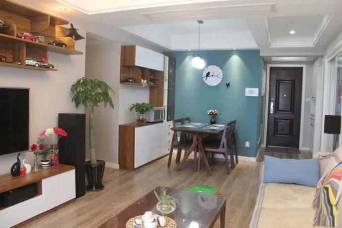 86平的三居室装修案例,简约又有格调的北欧宜家风,餐厅是最爱