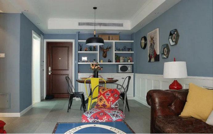 88平的两居室装修案例,美式工业混搭效果,总归有些人不喜欢的