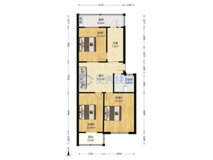 100平三居室的装修设计案例,尽显空间美感,简约设计超好看