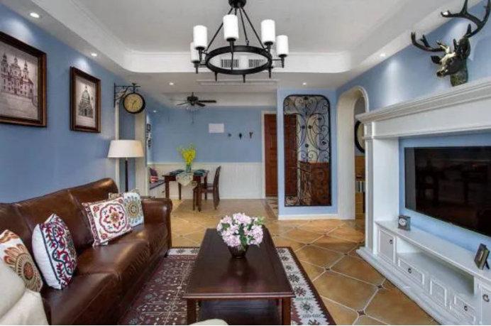 110平的三室一厅,轻奢的简美设计,一个属于你的美式新生活