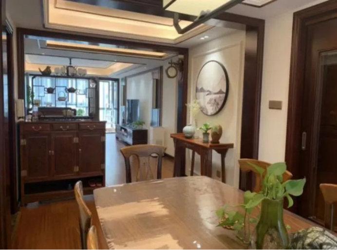 146平三室两厅装修案例,中式效果的设计,闲情逸致的生活