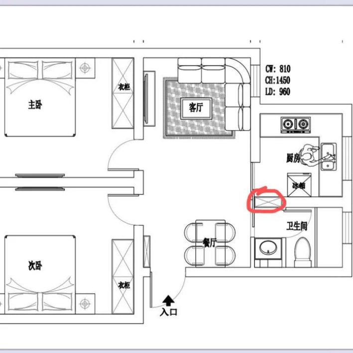 两室两厅的精致温馨新家,75平的装修案例,业主的布局设计有心了