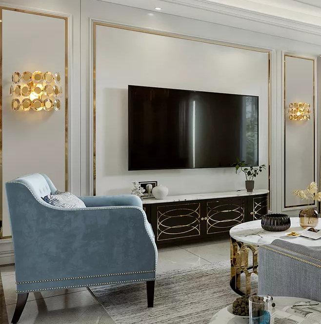 电视背景墙装修用什么材料?回家让师傅这样装,省钱好看又实用