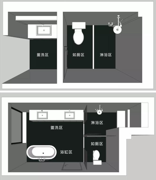 卫生间装修布局设计,一不小心就得砸掉重装,少一个用着都不舒服