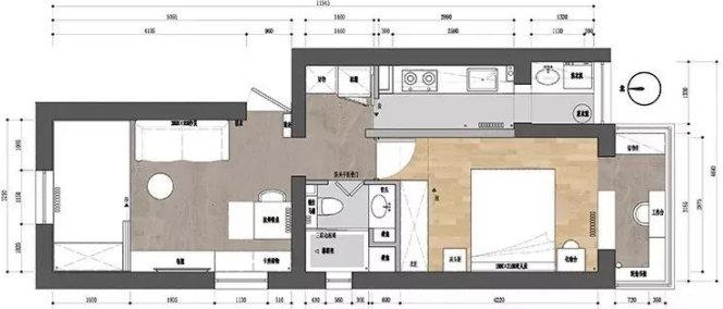 小户型装修案例,日式小户型一居室,个性的视觉效果