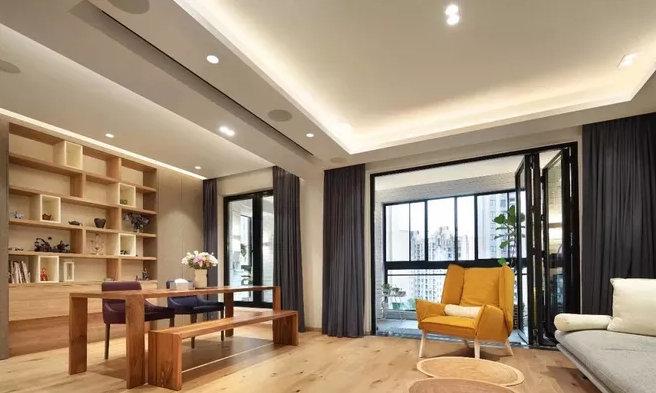 小户型客厅装修,不用电视也能很美观,投影仪完全可以代替电视