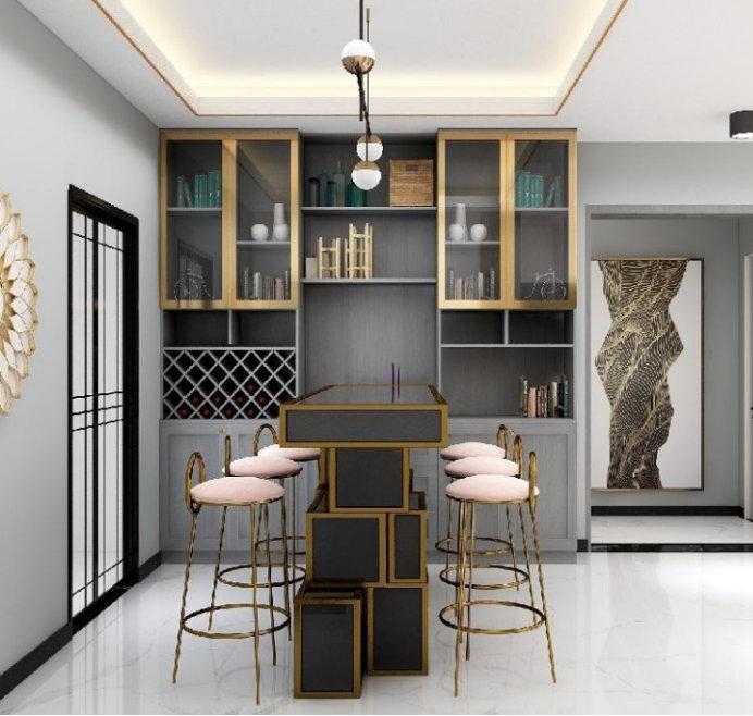 南京餐厅装修,多出的空间做一个餐边柜,好处居然有这么多