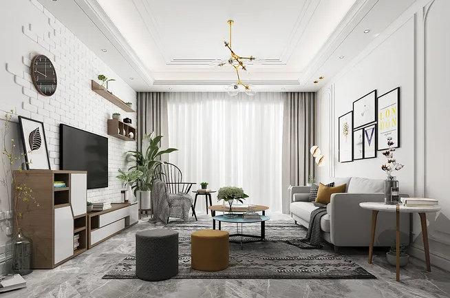 南京客厅装修,客厅装修注意事项,就算小客厅的设计也能精致