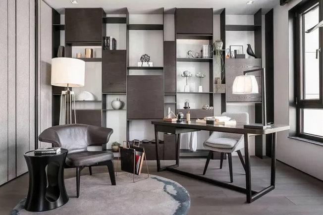 南京书房装修设计,不同的面积不同的布局,小户型也可以有书房